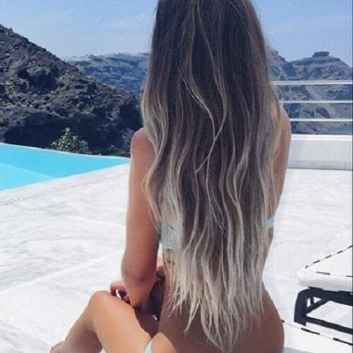 Brown Locks with Platinum Tips