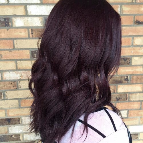 dark burgundy hair