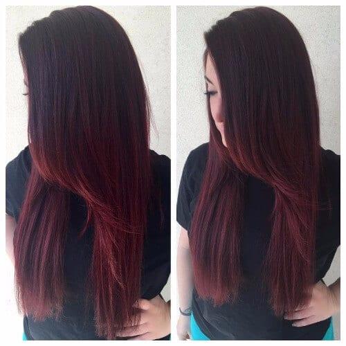 Creamy finish Asian burgandy hair love