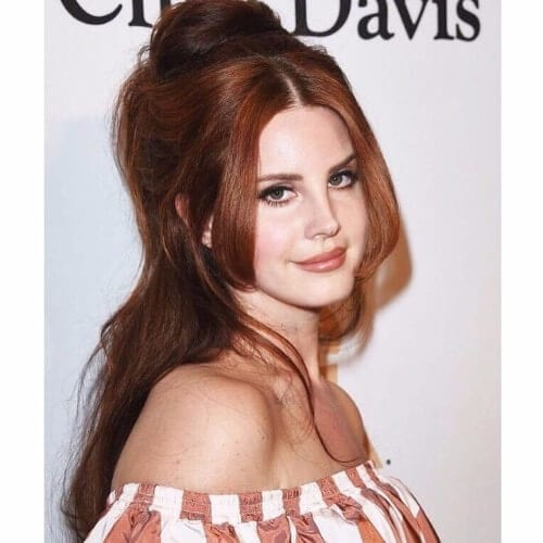 lana del rey chocolate hair color