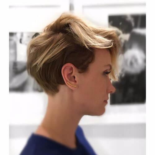 choppy layers on short haircut