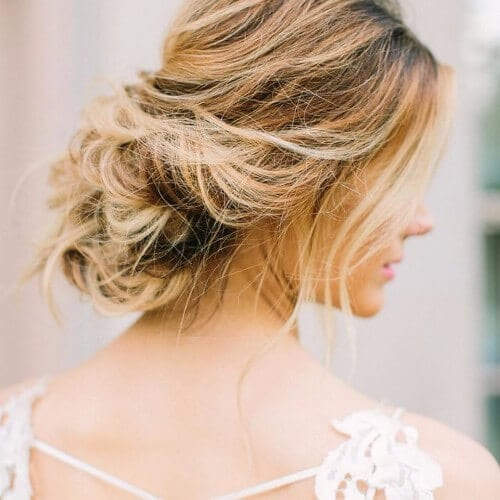 dirty blonde balayage wedding hairstyle