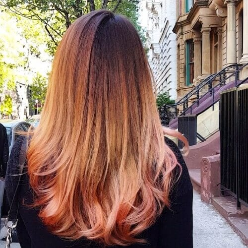 Copper Red Ombre