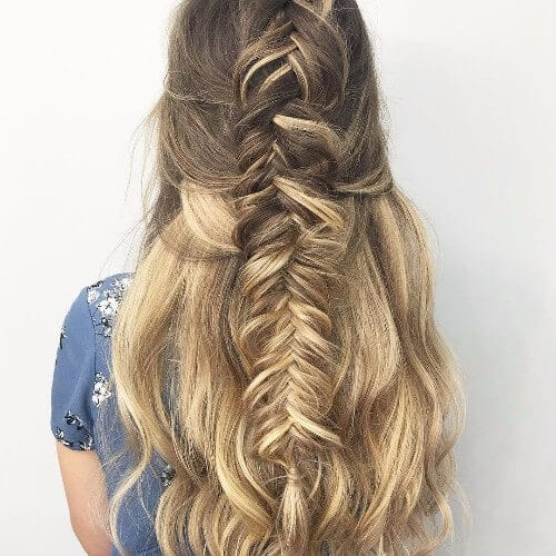 Dirty blonde balayage braided hair