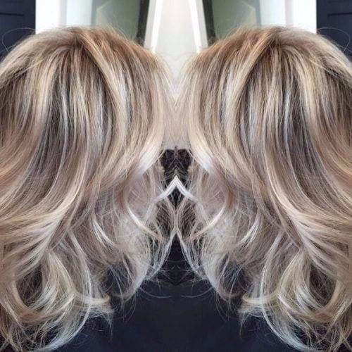 honey ash blonde hair balayage