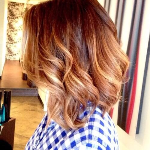 Blonde Ombre on red hair