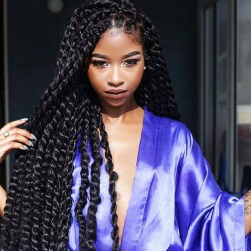 65 Cool Ways To Style And Wear Your Twist Braids My New Hairstyles
