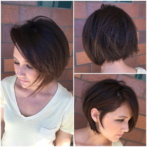 textured bob haircut