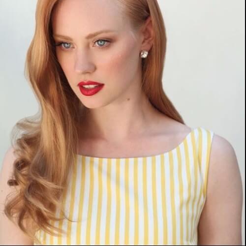 vintage hairstyle red hair