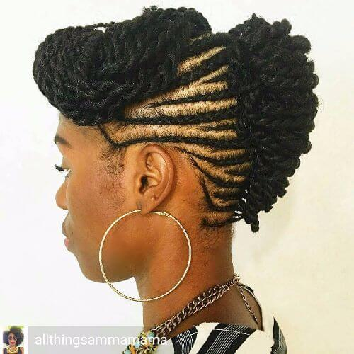 braided mohawk hairstyle braided updos