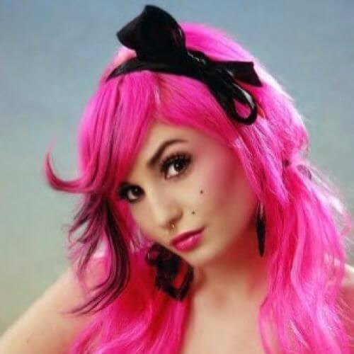 headband hairstyle for emo girls