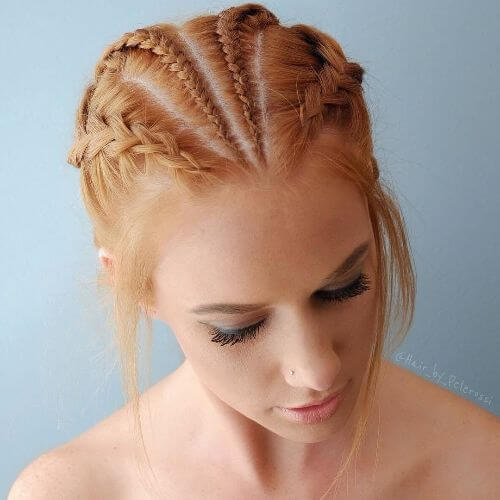 four braids updo hairstyle
