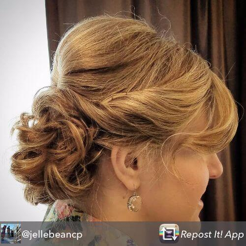 short curly hair updo