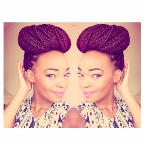 wedding box braids styles