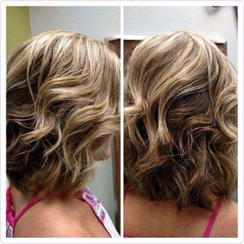 blonde highlights on medium length brown hair