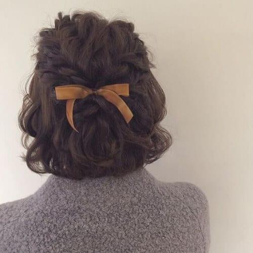 arco corto cortes de pelo para cabello rizado