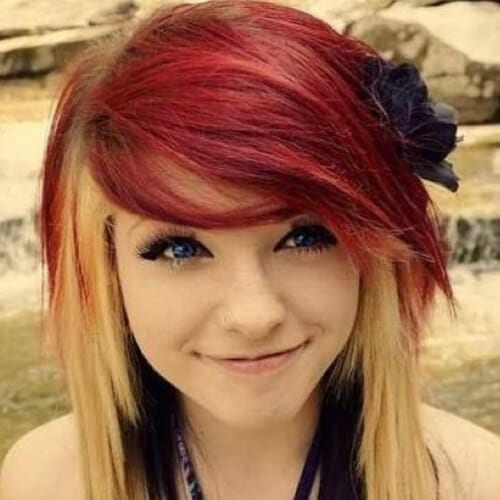 cute long emo hairstyles for girls