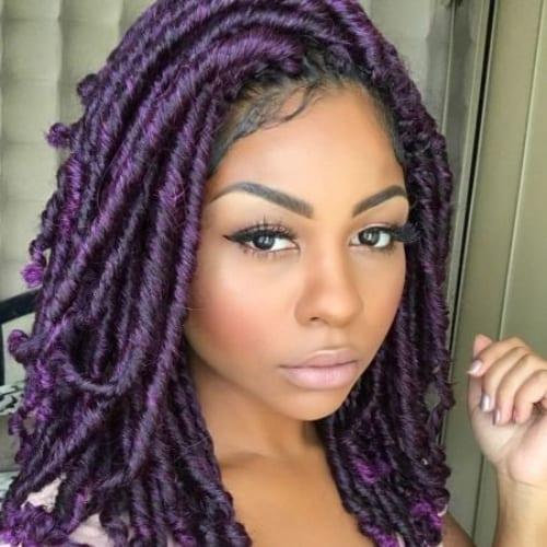 purple twist braids
