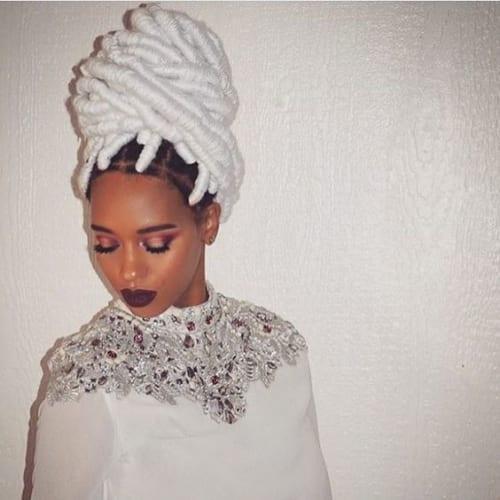 white twist braids