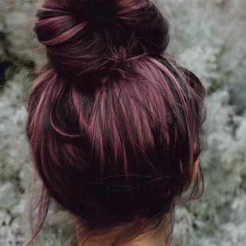 dusty burgundy hair