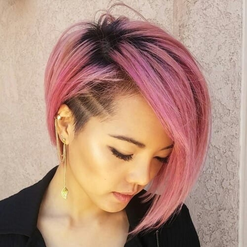 Cotton Candy Pink Bobs with Undercuts