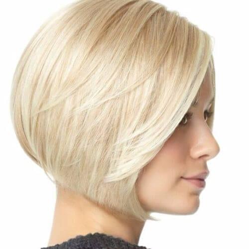 blonde short bob haircut