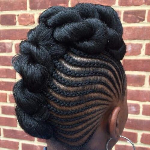 intricate goddess braids