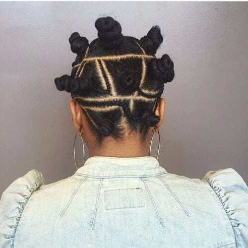 sculptured bantu knots