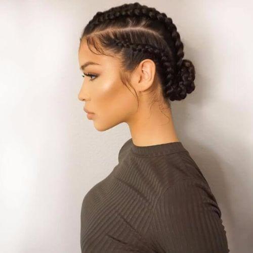 simple goddess braids