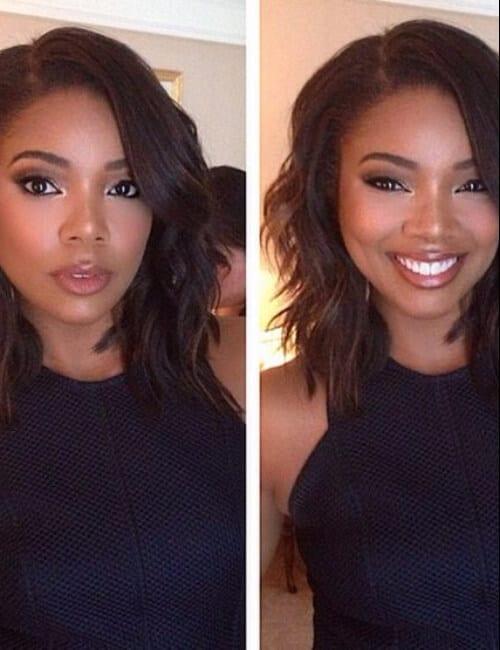 gabrielle union short hairstyles for black women