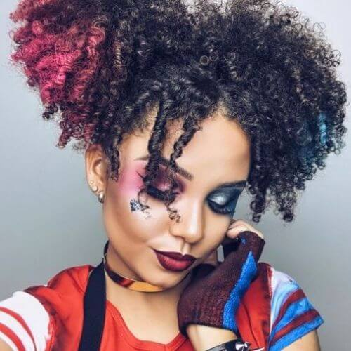natural hairstyles ideas harley quinn