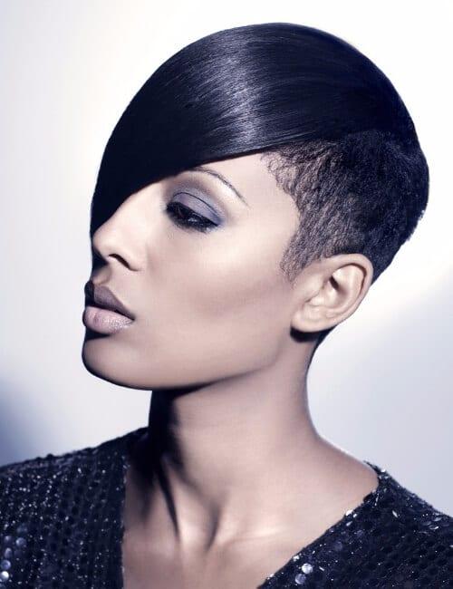 neutral swing short hairstyles for black women