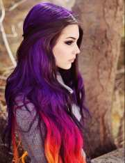 purple hair ideas and hairstyles