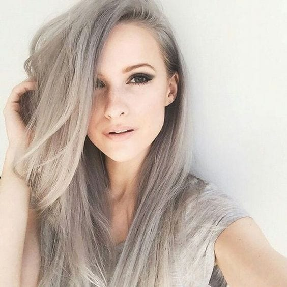 sandy grey hair natural