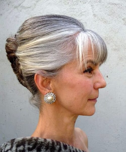 elegant updo hairstyles for women over 50