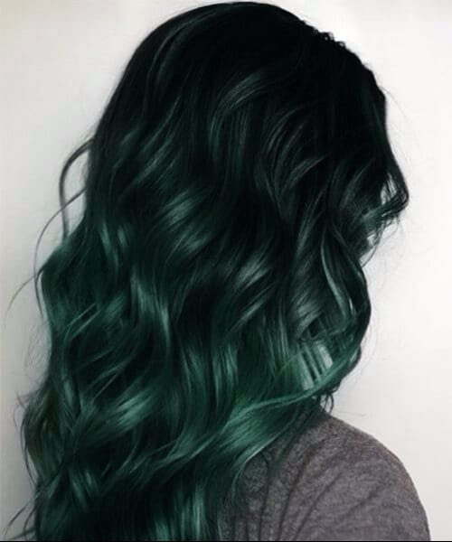 forest green mermaid hair