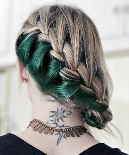 hidden emerald mermaid hair
