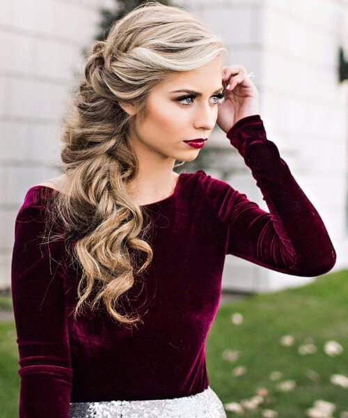 messy braid homecoming hairstyles