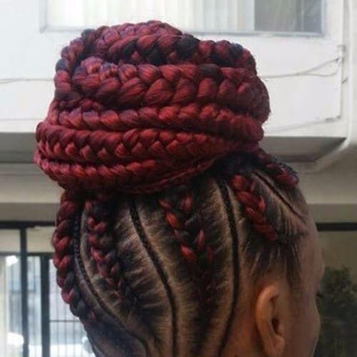 scarlet ghana braids