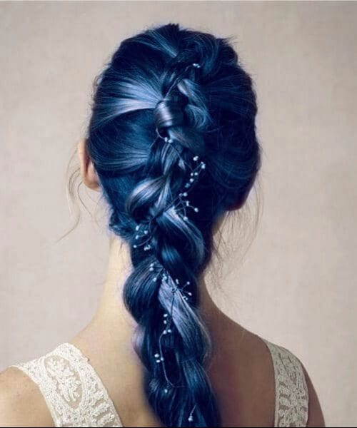 sea foam blue ombre mermaid hair