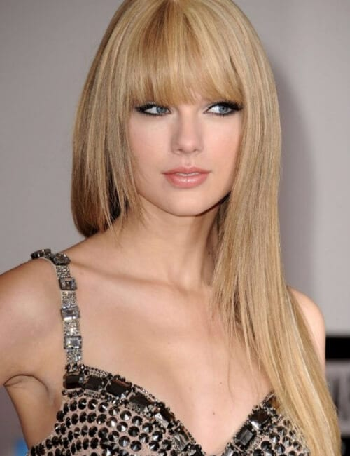 taylor swift bags straight hair updos for long hair
