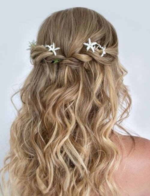 Wedding hairstyles for bridesmaids half up half down