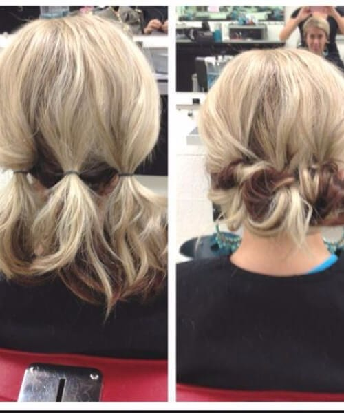 easy updos for short hair