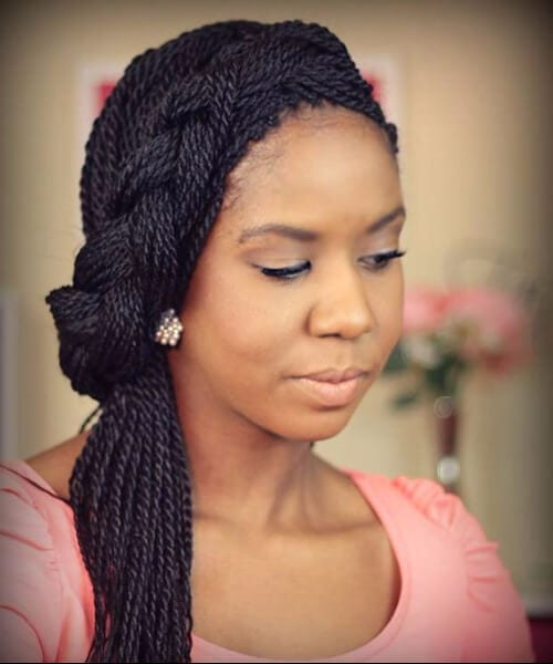 french braid senegalese twist