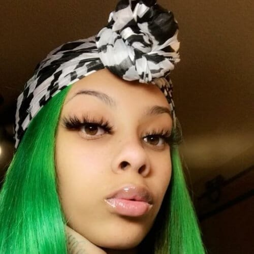 green sew in hairstyles