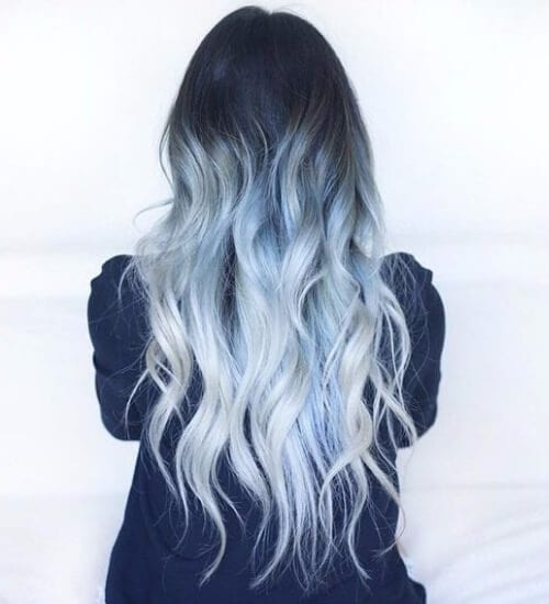 ice blue ombre hair