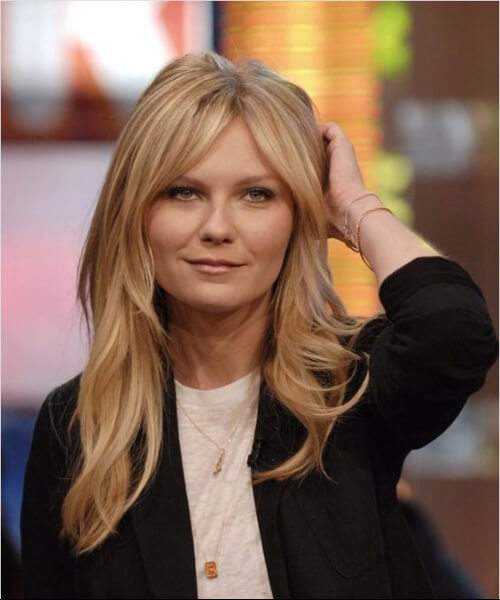 kirsten dunst haircuts for round faces