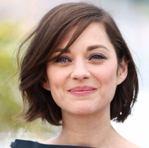 marion cotillard haircuts for round faces