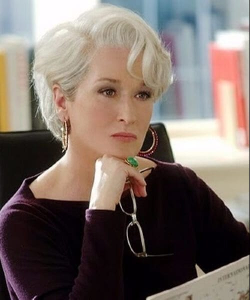 meryl streep short blonde hair