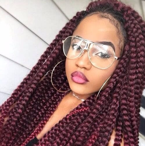 rhubarb godess braids sew in hairstyles